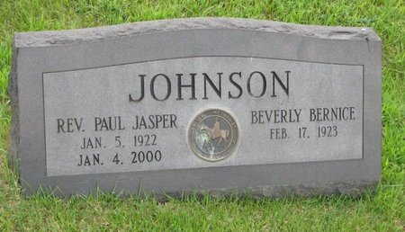 JOHNSON, PAUL JASPER (REV.) - Burt County, Nebraska | PAUL JASPER (REV.) JOHNSON - Nebraska Gravestone Photos