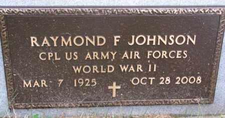 JOHNSON, RAYMOND F. (WW II) - Burt County, Nebraska | RAYMOND F. (WW II) JOHNSON - Nebraska Gravestone Photos