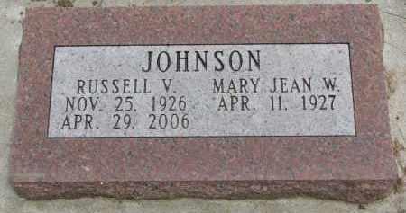 JOHNSON, MARY JEAN W. - Burt County, Nebraska | MARY JEAN W. JOHNSON - Nebraska Gravestone Photos