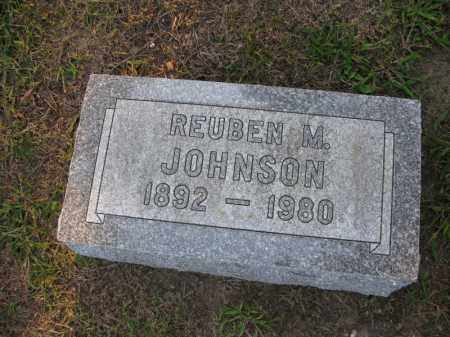 JOHNSON, REUBEN M. - Burt County, Nebraska | REUBEN M. JOHNSON - Nebraska Gravestone Photos