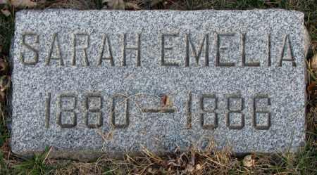 JOHNSON, SARAH EMELIA - Burt County, Nebraska   SARAH EMELIA JOHNSON - Nebraska Gravestone Photos