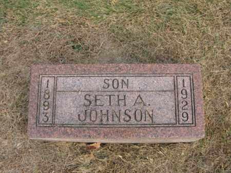 JOHNSON, SETH A. - Burt County, Nebraska | SETH A. JOHNSON - Nebraska Gravestone Photos