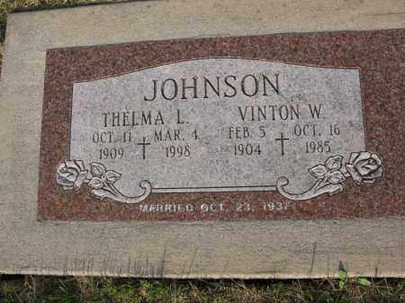 JOHNSON, THELMA L. - Burt County, Nebraska | THELMA L. JOHNSON - Nebraska Gravestone Photos