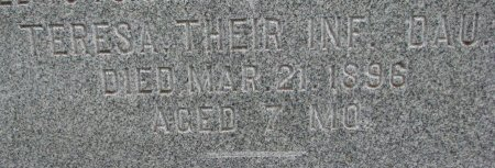JOHNSON, TERESA (CLOSE UP) - Burt County, Nebraska | TERESA (CLOSE UP) JOHNSON - Nebraska Gravestone Photos