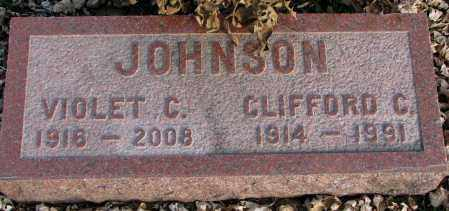 JOHNSON, VIOLET C. - Burt County, Nebraska | VIOLET C. JOHNSON - Nebraska Gravestone Photos
