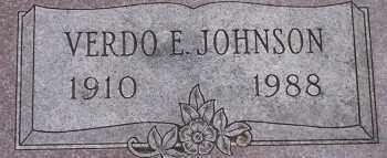 JOHNSON, VERDO E. - Burt County, Nebraska | VERDO E. JOHNSON - Nebraska Gravestone Photos