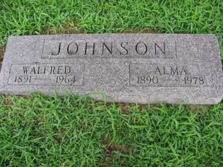 JOHNSON, WALFRED - Burt County, Nebraska | WALFRED JOHNSON - Nebraska Gravestone Photos