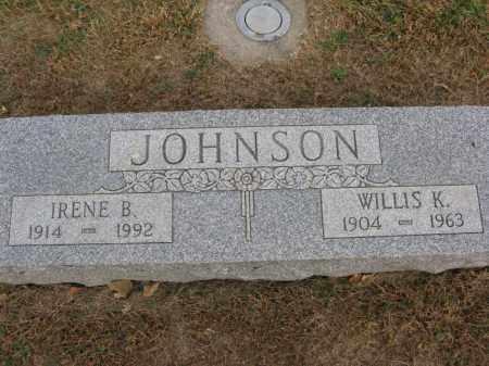JOHNSON, WILLIS KENNETH - Burt County, Nebraska | WILLIS KENNETH JOHNSON - Nebraska Gravestone Photos