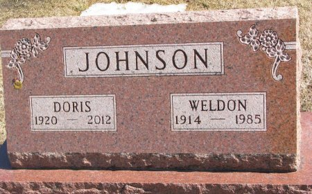 JOHNSON, WELDON - Burt County, Nebraska | WELDON JOHNSON - Nebraska Gravestone Photos