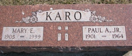 KARO, MARY E. - Burt County, Nebraska | MARY E. KARO - Nebraska Gravestone Photos