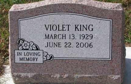 KING, VIOLET - Burt County, Nebraska | VIOLET KING - Nebraska Gravestone Photos
