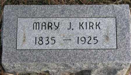 KIRK, MARY J. - Burt County, Nebraska | MARY J. KIRK - Nebraska Gravestone Photos