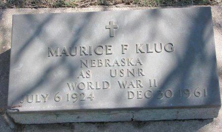 KLUG, MAURICE F. - Burt County, Nebraska   MAURICE F. KLUG - Nebraska Gravestone Photos