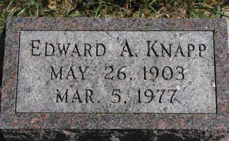 KNAPP, EDWARD A. - Burt County, Nebraska | EDWARD A. KNAPP - Nebraska Gravestone Photos