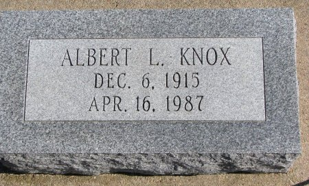 KNOX, ALBERT L. - Burt County, Nebraska | ALBERT L. KNOX - Nebraska Gravestone Photos