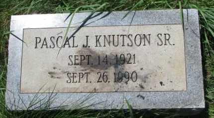 KNUTSON, PASCAL J., SR. - Burt County, Nebraska | PASCAL J., SR. KNUTSON - Nebraska Gravestone Photos
