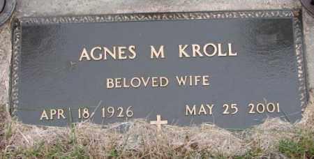 KROLL, AGNES M. - Burt County, Nebraska | AGNES M. KROLL - Nebraska Gravestone Photos