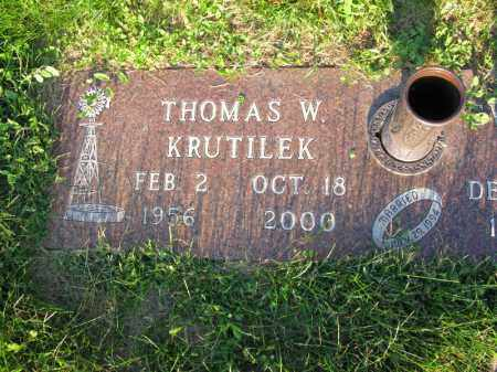 KRUTILEK, THOMAS W. - Burt County, Nebraska   THOMAS W. KRUTILEK - Nebraska Gravestone Photos