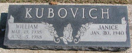KUBOVICH, JANICE - Burt County, Nebraska | JANICE KUBOVICH - Nebraska Gravestone Photos