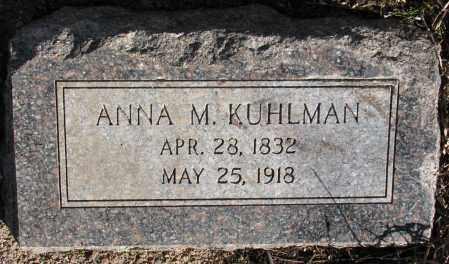 KUHLMAN, ANNA M. - Burt County, Nebraska   ANNA M. KUHLMAN - Nebraska Gravestone Photos