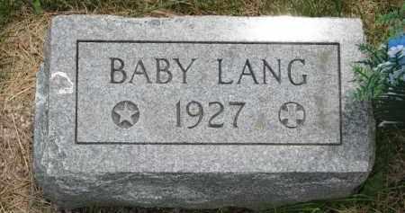 LANG, BABY - Burt County, Nebraska | BABY LANG - Nebraska Gravestone Photos