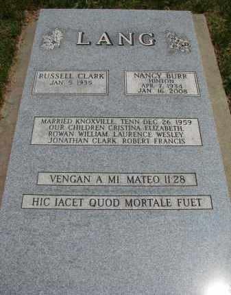 HINTON LANG, NANCY BURR - Burt County, Nebraska   NANCY BURR HINTON LANG - Nebraska Gravestone Photos