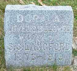 LANGFORD, DORA A. - Burt County, Nebraska | DORA A. LANGFORD - Nebraska Gravestone Photos
