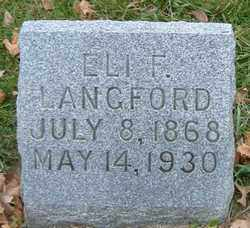 LANGFORD, ELI F. - Burt County, Nebraska | ELI F. LANGFORD - Nebraska Gravestone Photos