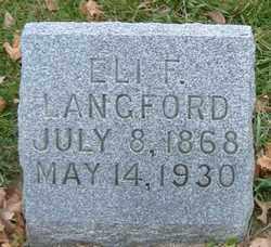 LANGFORD, ELI F. - Burt County, Nebraska   ELI F. LANGFORD - Nebraska Gravestone Photos