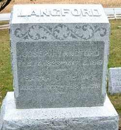 LANGFORD, SARAH - Burt County, Nebraska | SARAH LANGFORD - Nebraska Gravestone Photos