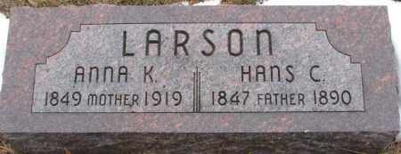 LARSON, ANNA K. - Burt County, Nebraska   ANNA K. LARSON - Nebraska Gravestone Photos