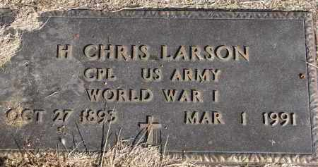 LARSON, H. CHRIS (WW I) - Burt County, Nebraska | H. CHRIS (WW I) LARSON - Nebraska Gravestone Photos