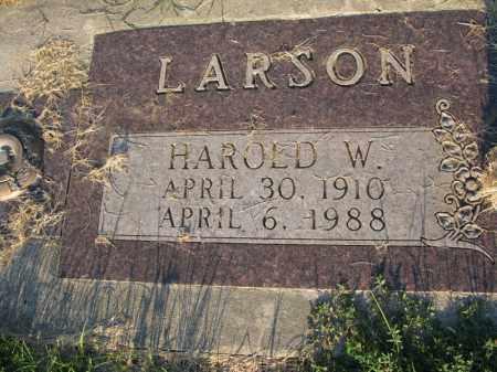 LARSON, HAROLD WILLARD - Burt County, Nebraska | HAROLD WILLARD LARSON - Nebraska Gravestone Photos