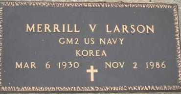 LARSON, MERRILL V. - Burt County, Nebraska | MERRILL V. LARSON - Nebraska Gravestone Photos