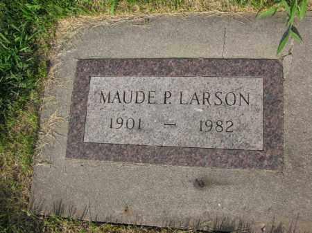 LARSON, MAUDE P. - Burt County, Nebraska   MAUDE P. LARSON - Nebraska Gravestone Photos