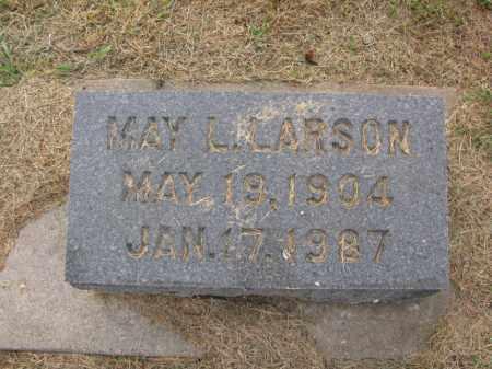 LARSON, MAY L. - Burt County, Nebraska   MAY L. LARSON - Nebraska Gravestone Photos