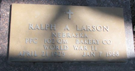LARSON, RALPH A. - Burt County, Nebraska | RALPH A. LARSON - Nebraska Gravestone Photos