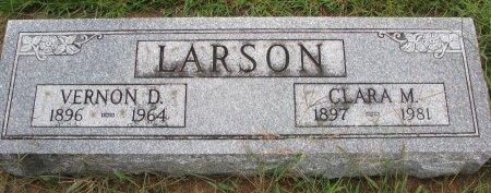 LARSON, CLARA MINERVA - Burt County, Nebraska | CLARA MINERVA LARSON - Nebraska Gravestone Photos