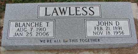 LAWLESS, BLANCHE T. - Burt County, Nebraska   BLANCHE T. LAWLESS - Nebraska Gravestone Photos