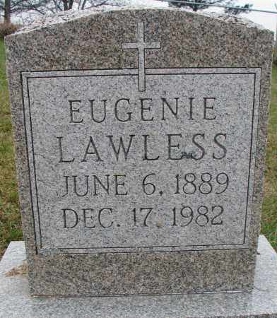 LAWLESS, EUGENIE - Burt County, Nebraska | EUGENIE LAWLESS - Nebraska Gravestone Photos