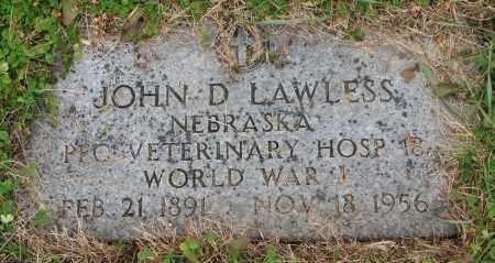 LAWLESS, JOHN D. (WW I) - Burt County, Nebraska | JOHN D. (WW I) LAWLESS - Nebraska Gravestone Photos