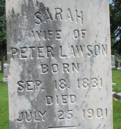 LAWSON, SARAH (CLOSE UP) - Burt County, Nebraska | SARAH (CLOSE UP) LAWSON - Nebraska Gravestone Photos