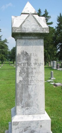 LAWSON, SARAH - Burt County, Nebraska   SARAH LAWSON - Nebraska Gravestone Photos