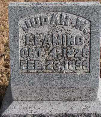 LEAMING, JUDAH W. - Burt County, Nebraska | JUDAH W. LEAMING - Nebraska Gravestone Photos