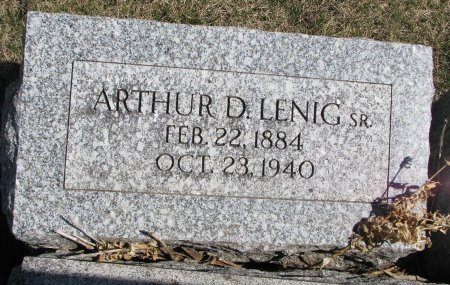 LENIG, ARTHUR D. SR. - Burt County, Nebraska   ARTHUR D. SR. LENIG - Nebraska Gravestone Photos