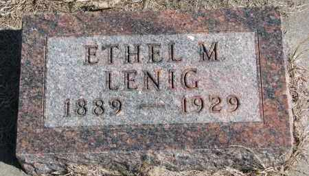 LENIG, ETHEL M. - Burt County, Nebraska | ETHEL M. LENIG - Nebraska Gravestone Photos
