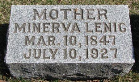 LENIG, MINERVA - Burt County, Nebraska | MINERVA LENIG - Nebraska Gravestone Photos