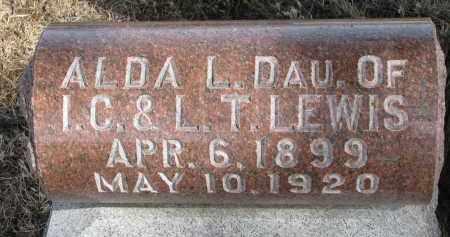 LEWIS, ALDA L. - Burt County, Nebraska | ALDA L. LEWIS - Nebraska Gravestone Photos