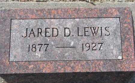 LEWIS, JARED D. - Burt County, Nebraska | JARED D. LEWIS - Nebraska Gravestone Photos