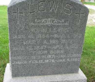 LEWIS, JAMES - Burt County, Nebraska | JAMES LEWIS - Nebraska Gravestone Photos